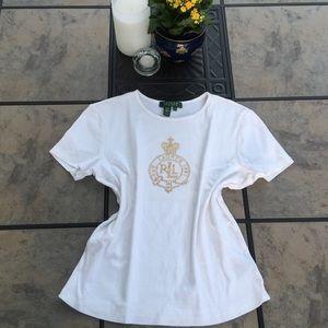 Lauren Ralph Lauren • Short Sleeve Embellished Top